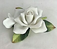 Andrea by Sadek Andrea's Flowers Porcelain White Rose with Bud 9714 2000