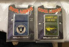 Vintage Cool Lights Refillable Lighter Not Filled Lot of 2