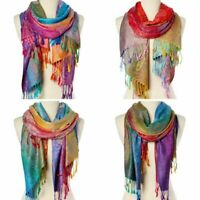 Women Scarf Wrap Shawl Soft Pashmina Warm Stole Fashion Paisley Acrylic Scarfs