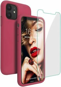 Liquid Silicone Case for iPhone 11 12 Mini Pro Max SE 2nd 2020 Cover Shockproof