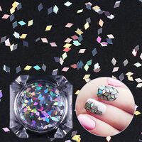 1g BORN PRETTY Holographic Nail Flakies Glitter Sequins 2mm Rhombus Colorful DIY