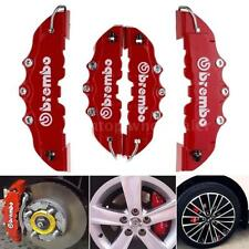 New 4Pcs Disc Brake 3D Cars Parts Caliper Covers Front Rear Red Car Set Kit Y8D9