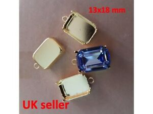 Octagon 13x18mm Settings One loop Bezel Claw for 4610 Crystal Fancy Stone