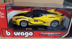 Scala 1:24 Ferrari Fxx-K Giallo Fxx Laferrari Dettagliato Modellino Auto