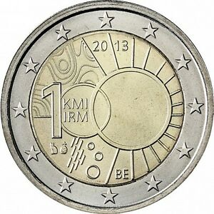 """Belgium 2 euro coin 2013 """"Royal Meteorological Institute"""" UNC"""