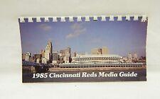 1985 Cincinnati Reds Media Guide w comb binding