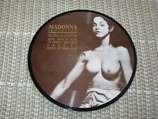SEXY NUDE CHEESECAKE MADONNA INTERVIEW PICTURE DISC TALKING IN USA IN 1988 7''