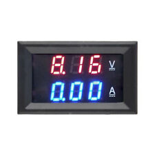 100V 10A Voltmeter Ammeter Blue Red LED Dual Digital Volt Amp Test Meter Gauge