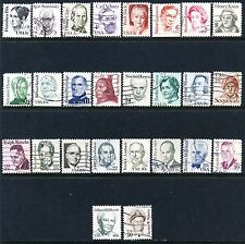 US #1844-1869  Great Americans  Regular Issue Used Set of 26 Issued 1980-85