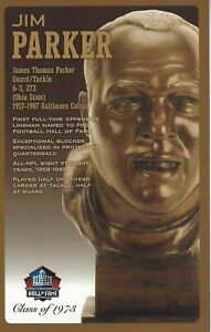 Jim Parker Baltimore Colts Football Hall of Fame Bust Card