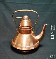 Rarität Antik Teekanne Wasserkocher mit Griff Kupfer