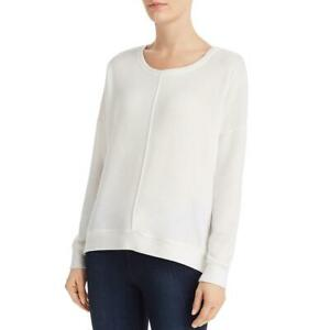 VELVET BY GRAHAM & SPENCER Womens White Top Pullover Sweater Shirt S BHFO 5743