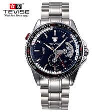 TEVISE Mens Automatic Mechanical Waterproof Stainless Steel Calendar Wrist Watch