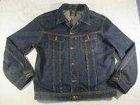 Vintage Lee Rockabilly Slim Rider Denim Jacket Jeansjacke Herren XL XXL Biker