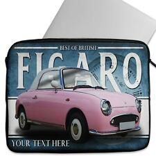 Personalised Laptop Cover NISSAN FIGARO Neoprene Sleeve Classic Car CL42
