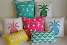 """Art Vintage Aqua Pineapple Set Home Decor Cotton CUSHION COVER PILLOW CASE 18"""""""