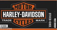 HARLEY DAVIDSON MOTORCYCLES CHROME BAR & SHIELD LARGE STICKER DECAL
