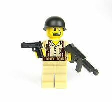 custom US WW2 Marines soldier made with real LEGO(R) Marine Single Thompson smg