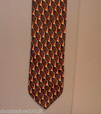 """Hallmark Specialties FRENCH HORNS Holiday Polyester 58"""" Neck Tie made USA  #691"""