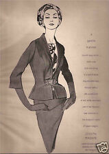 60's Dorothy Brader Illustrated Joseph Magnin Fashion Ad     1962