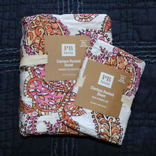 Pottery Barn Teen clarissa duvet cover sham 2pc twin pink orange Windswept bloom
