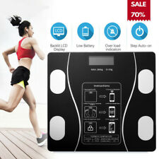 10 in1 Körperwaage Fitnesswaage Personenwage Gewicht Waage BMI Analyse 180KG USB