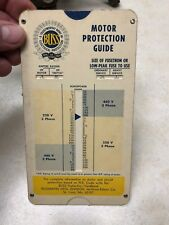 1963 Motor Protection Guide Slide Rule - Perrygraf Style