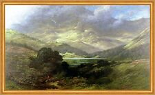 Scottish Highlands Gustave Dore Escocia lago tierras altas colinas montañas B a2 02177