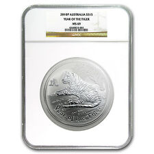 2010 Australia 1/2 kilo Silver Year of the Tiger MS-69 NGC (SII) - SKU #91593