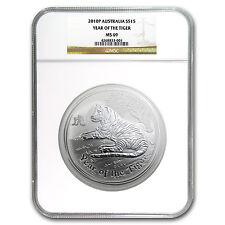 2010 Australia 1/2 kilo Silver Year of the Tiger MS-69 NGC - SKU #91593