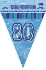 13th-100th Negro Glitz Cumpleaños Bandera EMPAVESADO Banner Partido Vajilla Decoraciones