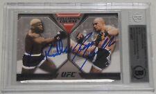 Bas Rutten Kevin Randleman Signed 2011 Topps UFC 20 Moment of Truth Card BAS COA