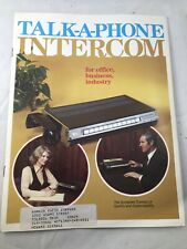 Vintage Talk A Phone Intercom Sales Brochure Pamphlet