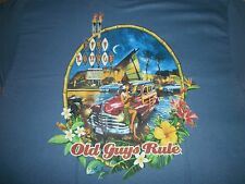 "Old Guys Rule ""Tiki Lounge"" The Older I Get The Better It Was Surfboard S/S Xl"