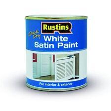 250ml Rustins séchage rapide Satin Blanc Peinture pour intérieur & extérieur