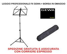 LEGGIO GEWA FX PROFESSIONALE PIEGHEVOLE TRASPORTABILE CON BORSA PER IL TRASPORTO