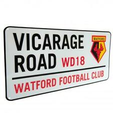 Watford FC Official Metal Vicarage Road Street Sign