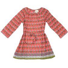 Peek Girls Sz Small 4/5 Tie Waist Dress Long Sleeve Floral Fall Boho Lightweight