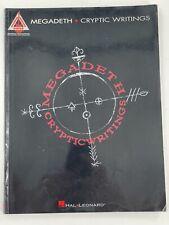 Megadeth Cryptic Writings Guitar Tablature Tab 1998 Trade Paperback Songbook