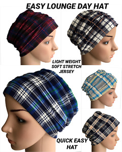 HEADWEAR FOR HAIR LOSS, JERSEY  LOUNGE DAY HAT, CHEMO, ALOPECIA CANCER
