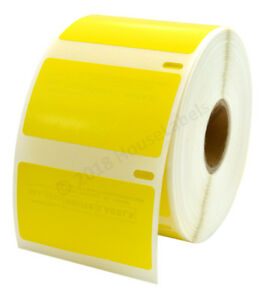 (1) to (50) Rolls of DYMO LW 30334 YELLOW - HIGH VIS Labels - FREE & FAST SHIP