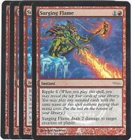 TCG 79 MtG Magic the Gathering Surging Flame Arena League Promo Playset (4)