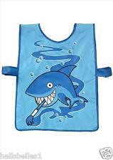 Bugzz Kids Blue Shark Tabard Childrens Childs Boys Fun Painting Cooking Apron