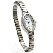 Ravel Ladies Easy Read Oval Quartz Watch Expanding Bracelet Sil #02 R0201.02.2