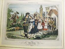 Romántico.Litografia original.Málaga 1880-90