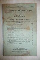 Railways British Rail PERMANENT WAY INSTITUTION JOURNAL April 1942     .. 22