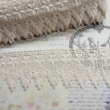 Victorian Gorgeous Embroidery Cotton Fabric Crochet Lace Trim 7.5cm Wide 1yard