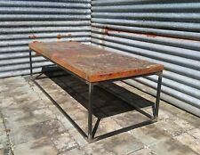 Reclaimed Hardwood & Steel Painted Art Table