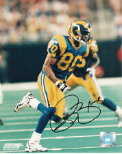 Isaac Bruce autographed signed auto St. Louis Rams 8x10 color action photo COA