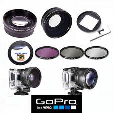 GOPRO HERO5 BLACK WIDE ANGLE LENS+TELEPHOTO ZOOM LENS + FILTER KIT + MACRO LENS